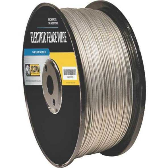 Acorn EFW1414 Galvanized Electric Fence Wire, 14 Gauge