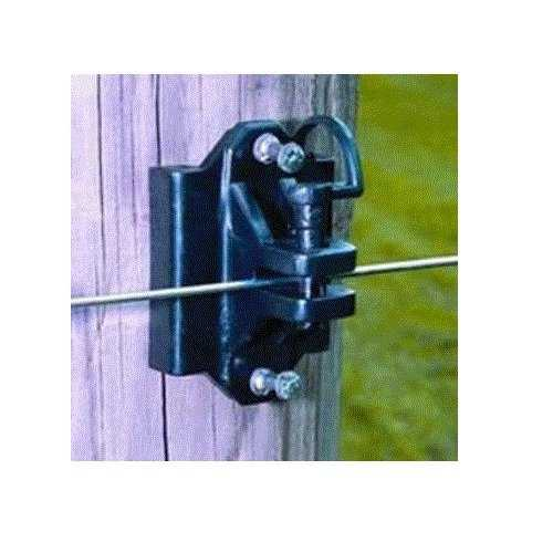 Zareba IWTPLB-Z Electric Fence Insulators, Black