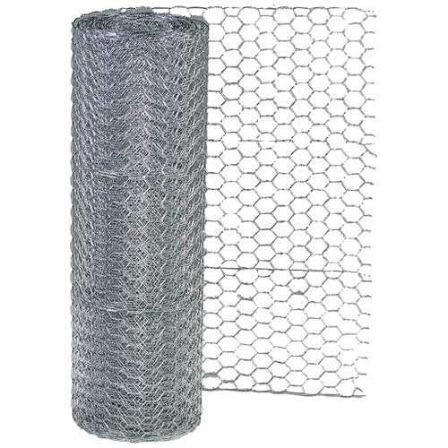 Garden Zone 162425 Hex Mesh Poultry Netting, 24' H x 25' L