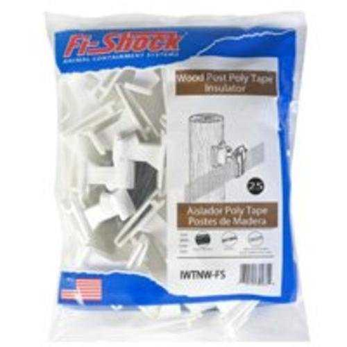 Fi-Shock IWTNW-FS Electric Poly Tape Wood Post Insulator, White