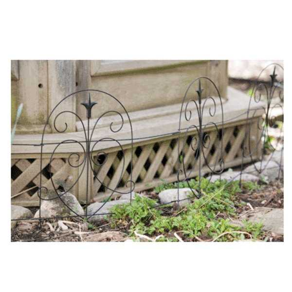 Panacea 89379 Romantic Folding Border Fence, 18' x 8'