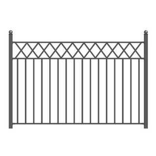 ALEKO Stockholm Style Ornamental Iron Wrought Garden Fence 8'x5' Black